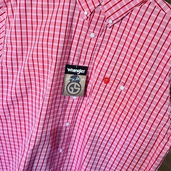 Mens Wrangler George Strait button up shirt